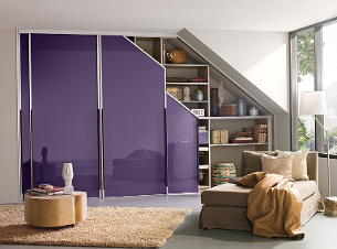 Sloping Ceiling Wardrobe with Glass Sliding Doors