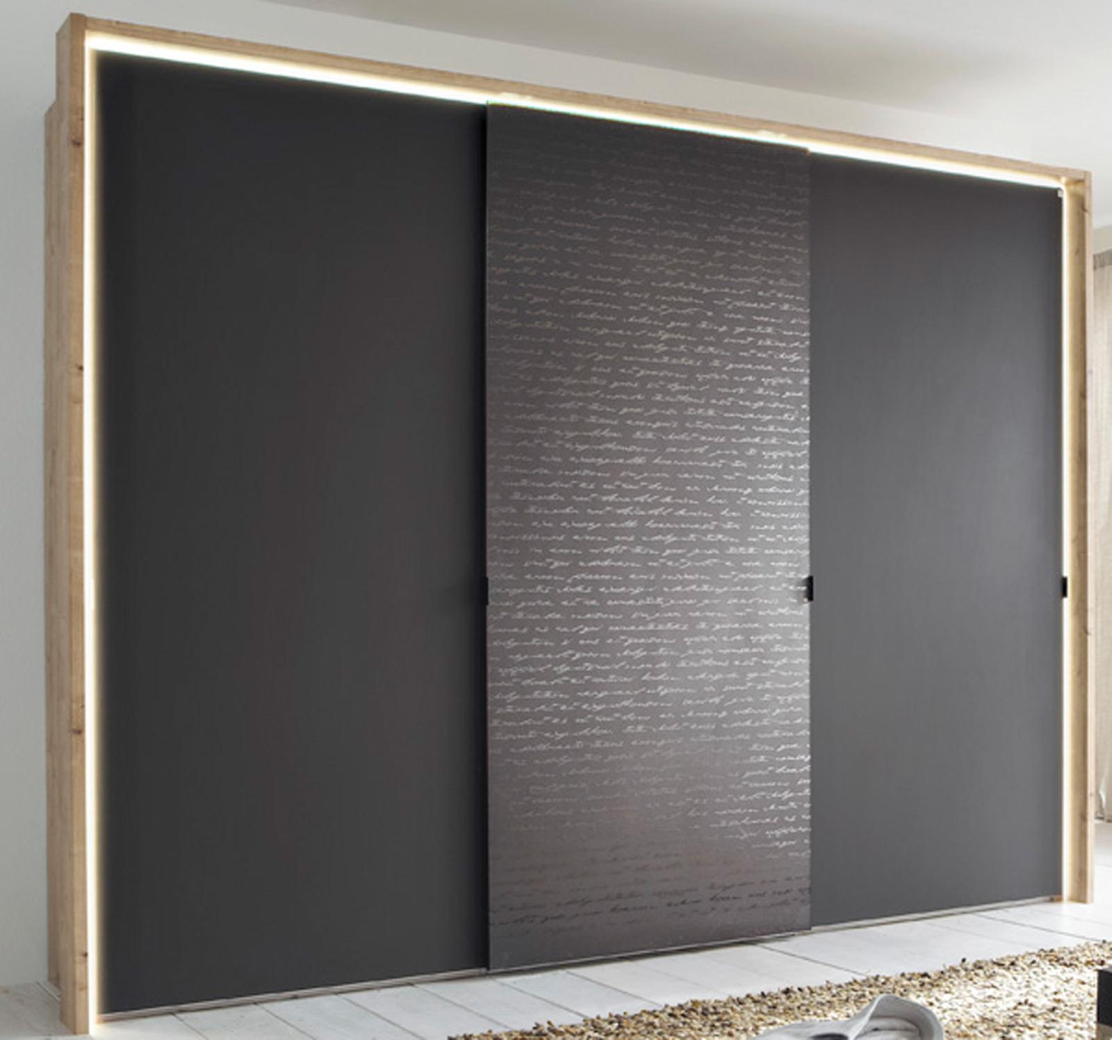 Schwebetürenschrank schwarz braun  Sliding Doors