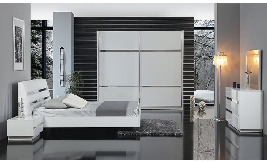 High gloss wardrobes contemporary wardrobe doors bespoke for Bedroom furniture hawaii