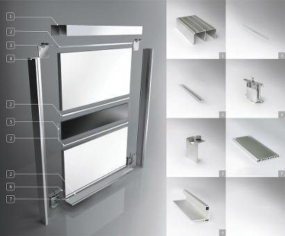 Standard floor based sliding door system